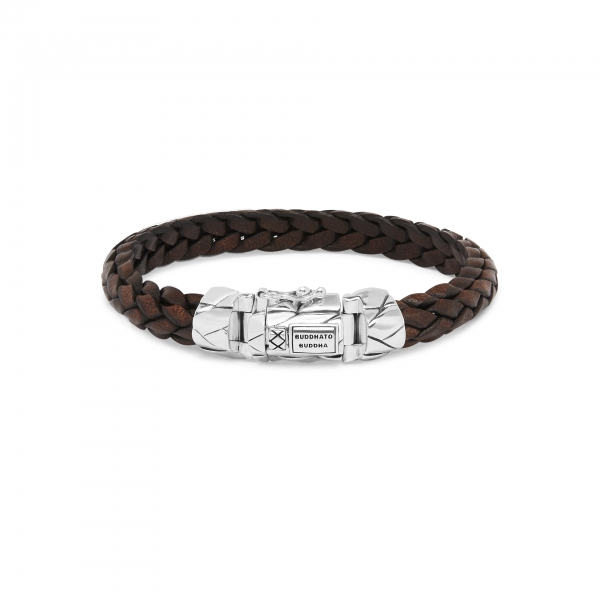 126BR Mangky Small Leather Bracelet Brown Bruin