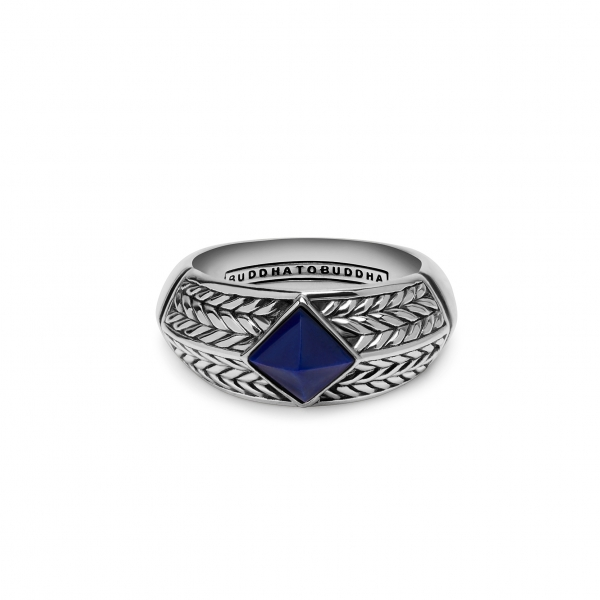 Ellen Stone Ring Blue Blauw